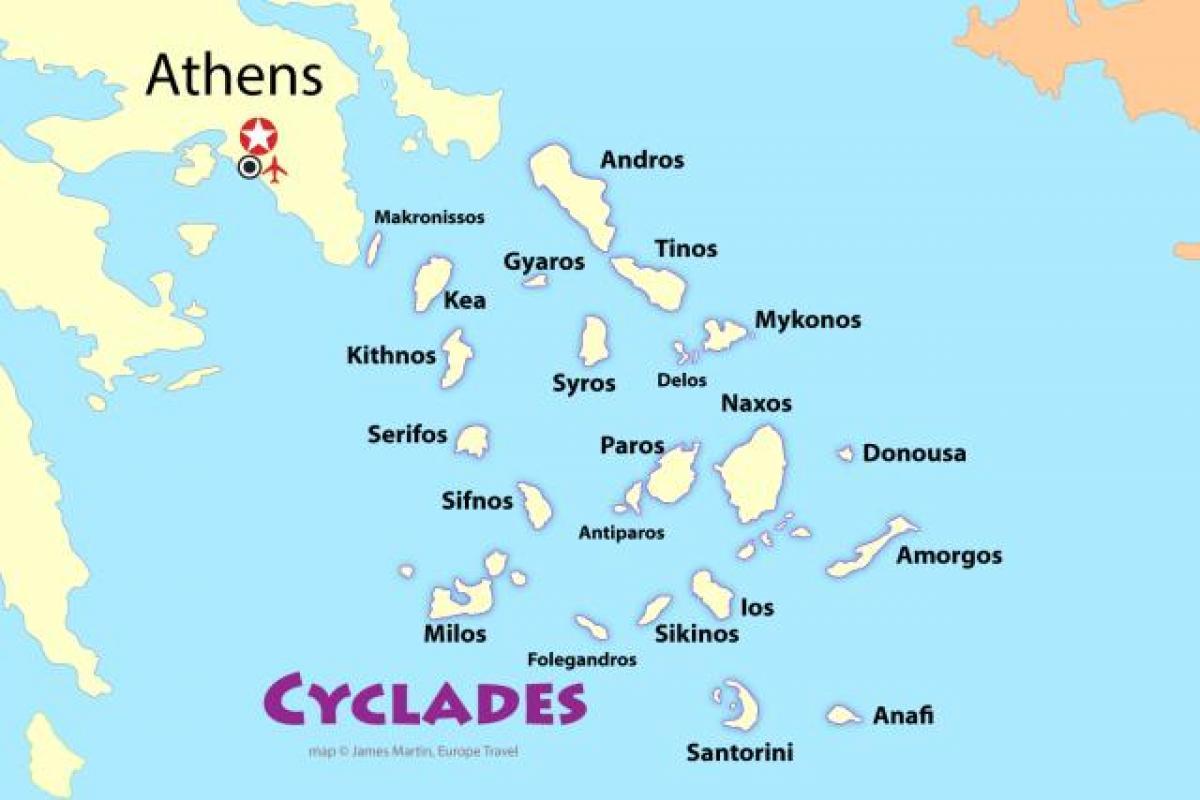 Ateny Mapa Ostrovy Recke Ostrovy Pobliz Mape Ateny Recko